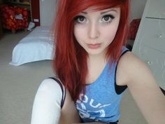 Red hair & Makeup.