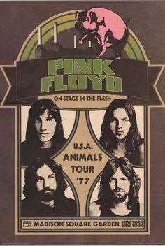Pink Floyd Animals Tour '77 Poster 24x36