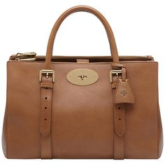 Buy Mulberry Bayswater Leather Double Zip Tote Bag, Oak Online at johnlewis.com £1500