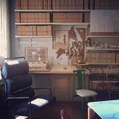 View of the designers' studio at the castiglioni studio museum via leilaniarita