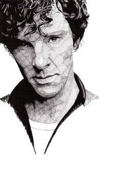 Drawing of Benedict Cumberbatch by Rik Reimert