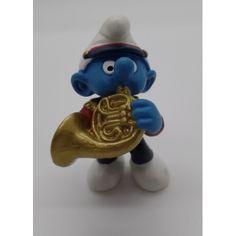Figurine Schtroumpf musicien - Cor