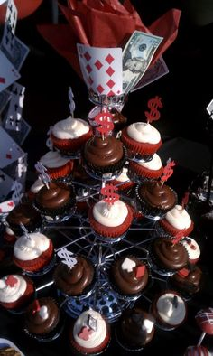 Casino Night Cupcakes