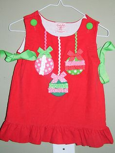 12-18M MUD PIE CHRISTMAS BALLS CORD DRESS | eBay