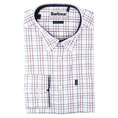 Charles Regular Fit Button Down in Crimson by Barbour