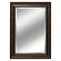 Deco Mirror 31 in. x 37 in. Embossed Distressed Mirror in Bronze-2079 at The Home Depot