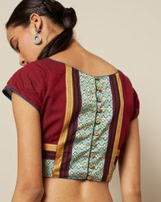 55 Trendy blouse back neck designs with borders for sarees Blouse Neck Patterns, Blouse Designs High Neck, Simple Blouse Designs, Stylish Blouse Design, Fancy Blouse Designs, Saree Border, Sarees, Boats, Cloth Patterns