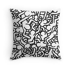 Keith Haring all over pillow silvia-vacca.redbubble.com for more