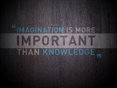 imagination - knowledge