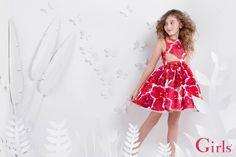 47c4c79b5 vestido flores rojas para nena verano 2016 Flores Rojas