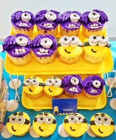 #minion theme party #minions cupcake