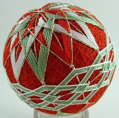 Temari Balls are a form of Japanese art, represented by balls of yarn that feature intricate patterns