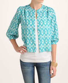 Collective Concepts Ikat Blouse