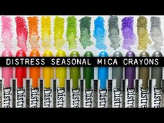 Distress Mica Crayons - YouTube Halloween Crafts, Christmas Crafts, Simon Says Stamp, Color Crayons, Tim Holtz, All Video, Cards, Touch, Youtube