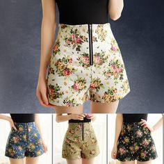 2015 Summer Style Fashion Vintage Thin Shorts Female High Waist Shorts Female Wide Leg Short Women S500