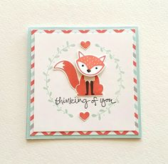 This adorable card was CASed from Google. Isn't he the best? Stampin'Up Foxy Friends