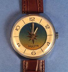 Really RARE RAKETA Soyuz Soviet Watch от mensVintageWatches