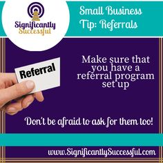 Does your company have a referral program set up yet?