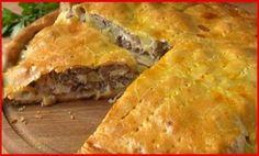 Ha egy különleges és gyors ételre vágysz: Hússal, és burgonyával töltött pite! Nagyon finom! Romanian Food, Spanakopita, Savoury Cake, Food Hacks, Tart, Ethnic Recipes, Picnic, Pizza, Fine Dining