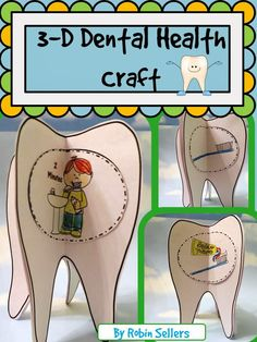 Dental Health Craft: Create a Tooth Brushing Sequencing Craftivity when you teach about brushing teeth with this So Sweet Craft during your . Dental Hygienist, Dental Implants, Dental Care, Dental Surgery, Dental Health Month, Oral Health, Health Lessons, Health Advice, Health Unit