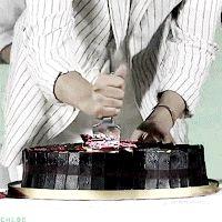 GIF  |  2016 June 22 |  #Birthday |  HappyBirthday | #Cake |  #Movie PREMIER |  #Beijing |  #BountyHunters | (Source:  Weibo:  ohchloe  |