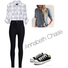 An Annabeth Chase inspired outfit from Rick Riordan's, Percy Jackson series by autumndohm on Polyvore featuring polyvore fashion style Rails Rodarte Converse