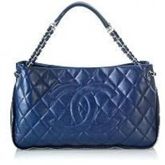 Chanel Timeless CC Shoulder Tote Color: Blue Lining Color: Tan Handle Drop: 6 inch Type of Material: Leather Hardware: Silver Closure: Magnetic Snap Credit Check Required Dimensions: handle drop Chanel Tote, Chanel Handbags, Tote Handbags, Coco Chanel, Tote Bags, Leather Handbags, Couture Shoes, Chanel Couture, Shoulder Handbags