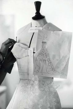 Fashion Atelier - dressmaking; couture sewing; fashion design behind the scenes // Christian Dior More