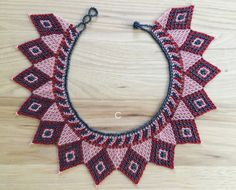 Elegantes gargantillas huichol - Hecho en Mexico - disponible en 3 colores diferentes: - A - Qty:1 ------- Size: 43 cm - B - Qty:1 ------- Size: 43 cm - C - Qty:1 ------- Size: 42 cm No dejes de visitar nuestra tienda! Mas modelos aqui: www.etsy.com/listing/504089649/necklace-choker-huichol-romea?ref=shop_home_active_1 Cualquier consulta no dudes en escribirnos. Si tu país no se encuentra en la lista de envíos por favor escríbenos. twitter.com/RomeaHandmade...