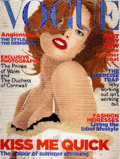 Contemporary stitch artist Inge Jacobsen - Threaded Vogue Cover