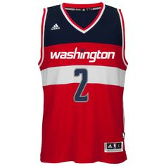 be68a0900 Mens Washington Wizards John Wall Adidas Red Swingman Away Jersey