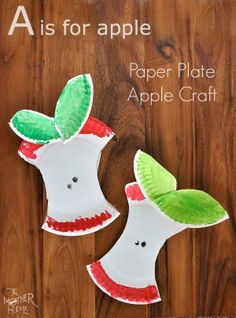 You know what they say about an apple a day - build core art skills by making these paper-plate apples together.  #kidcrafts