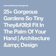 25+ Gorgeous Gardens So Tiny They'll Fit In The Palm Of Your Hand   Architecture & Design