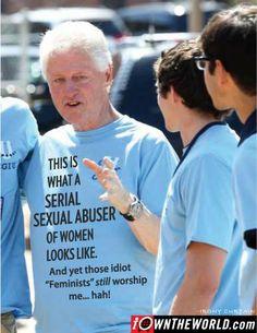 Hillary Clinton, Bill Clinton, sexual predator