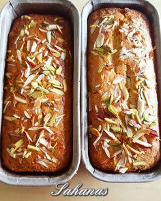 EGGLESS CARDAMOM/ELAICHI DRYFRUIT CAKE Eggless Desserts, Eggless Recipes, Eggless Baking, Baking Recipes, Cake Recipes, Baking Ideas, Bread Recipes, Tea Cakes, Cupcake Cakes