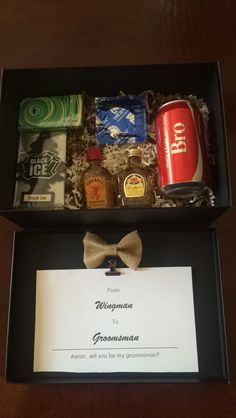 DIY will you be my groomsman gift
