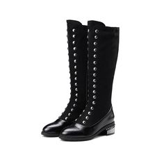 Block Heel Knee Boots. Block HeelsKnee BootsDivaKnee High BootOver ... 1b53d575ed39