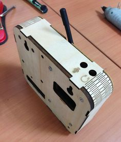 DIY laser cut plywood electronic box