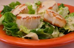 South Beach Phase One Recipes: Warm Scallop Caesar Salad from Kalyn's Kitchen