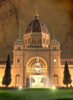 Royal Exhibition Building, Carlton is a World Heritage Site-listed building in Melbourne, Australia, completed in Melbourne Australia, Australia Travel, Australia Winter, Australia Country, Visit Australia, South Australia, Melbourne Victoria, Victoria Australia, Beautiful Buildings
