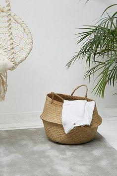 Wäschekorb aus Seegras