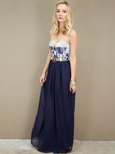 Love love the top! No so much the floor length skirt