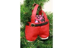 Holiday gift idea! These adorable Santa Pants make great stocking stuffers for family & friends! Hand them on your fireplace, tree or anywhere else in the home to add extra décor! Stuff them with your family's favorite items!