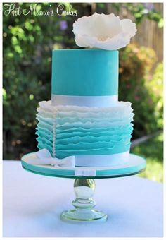 Ruffles in Tiffany Blue
