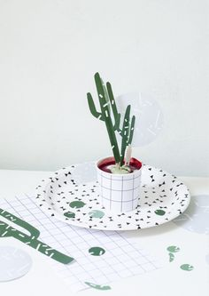 lapartybox - cactus party topper diy printable