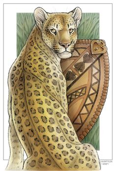 Wild Cat Cards - Leopard by synnabar on DeviantArt