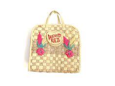 70er Jahre Vintage-Tasche / / Stroh Tasche Puerto von AdieHolly