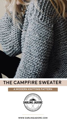 #knit a #chunky #sweater with this #knitting #pattern by #DarlingJadore for the #CampfireSweater! | #knittingpattern #knittingpatterns #knitsweater #chunkyknits #chunkyknitsweater #easyknitpattern #easyknittingpattern #knitsweaterpattefrn #sweaterknittingpattern #knitraglan #knitwear #fashionknitsweater #knittedsweater #knitpullover #knitjumper #knitpattern #knitpatterns #sweaterknitpattern #sweaterknittingpattern #sweaterknitpatterns #sweaterknittingpatterns