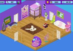 Webkinz purple room featuring endangered red panda with shuts and slips