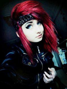 nice it's red .. it's an emo color .. and .. oh i don't care but it's... by http://www.danaz-haircuts.xyz/scene-hair/its-red-its-an-emo-color-and-oh-i-dont-care-but-its/